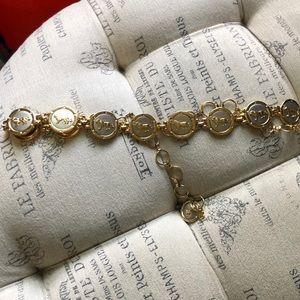 Vintage gold lion belt